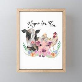 Vegan for Them Framed Mini Art Print