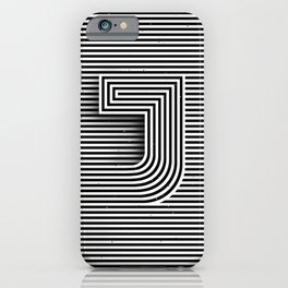 "Illusive letter ""J"" iPhone Case"