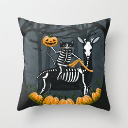The Not So Headless Horseman Throw Pillow