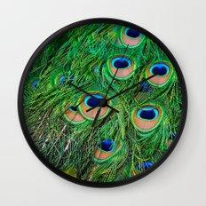 Peacock Passion Wall Clock