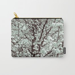 Winter Petals Carry-All Pouch