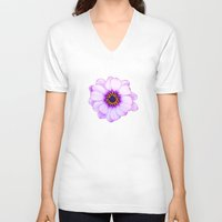 purple V-neck T-shirts featuring Purple  by Loredana