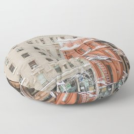 Upper West Side Snow Globe - NYC Photography Floor Pillow