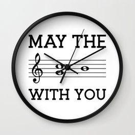 May the 4th be with you (light colors) Wall Clock