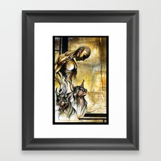 A Rusted Animal Instinct Framed Art Print