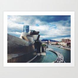 The Guggenheim Museum Bilboa (Frank Gehry Architecture) Art Print