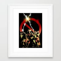 ghostbusters Framed Art Prints featuring ghostbusters by LynxArtCollection