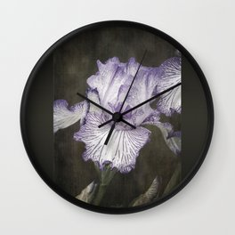 Waves of Purple Wall Clock