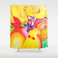 secret life Shower Curtains featuring The Secret Life Of Lily by Susi Franco