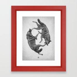 Two Wolves : Cherokee Tale Framed Art Print