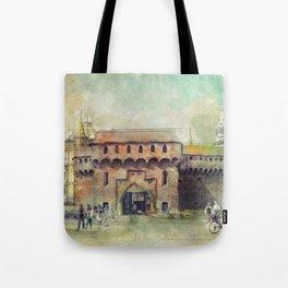 Cracow Barbican art Tote Bag