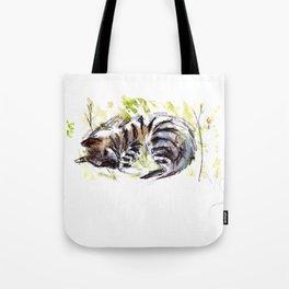 Totem striped hyena (Hyaena hyaena) Tote Bag