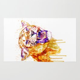 Angry Lioness Rug