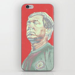 Alex Ferguson red iPhone Skin