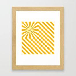 Stripes explosion - Yellow Framed Art Print