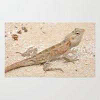 lizard Area & Throw Rugs featuring Lizard by Bonjourik