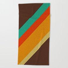 Retro 70s Color Palette Beach Towel