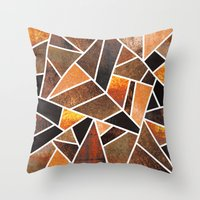 earth Throw Pillows featuring Earth by Elisabeth Fredriksson