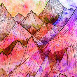 Art Print - Peaks of Colours -  Steve Wade ( Swade)