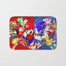 Mario vs Sonic Bath Mat