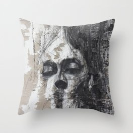 Abstract face Throw Pillow