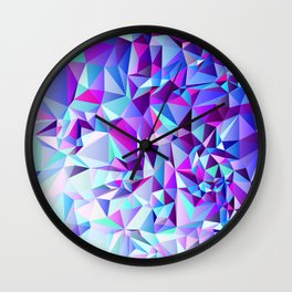 PURPLE+TEAL Wall Clock