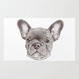 Drawing of french bulldog Rug