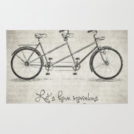 Bicycle Quote Rug