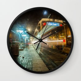 Portland Night Train Wall Clock