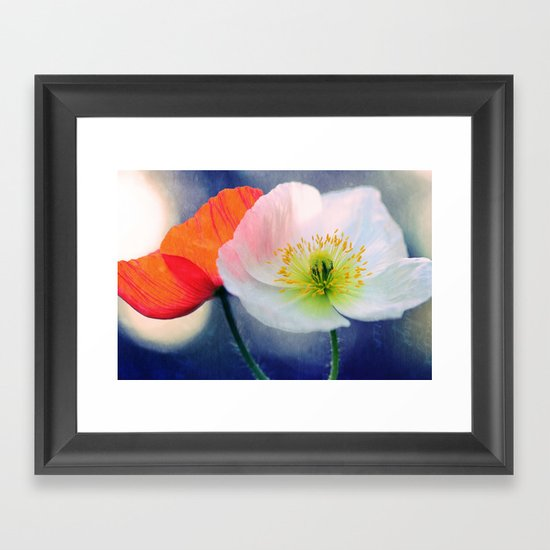 Evening Poppies Framed Art Print