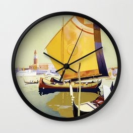 Vintage Travel Poster - Royal Mail Wall Clock