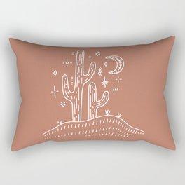 Wanderlust Cactus Minimal Simple Design Rectangular Pillow