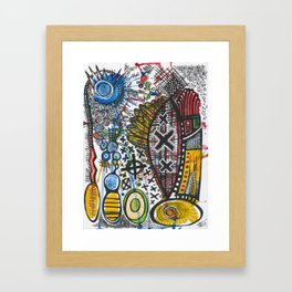 Feathers or Rockets Framed Art Print