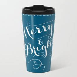 Merry & Bright Metal Travel Mug