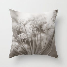 Dreams and Petals - Flower Photography Throw Pillow