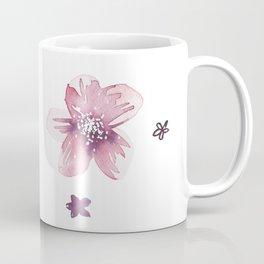 Lilac Pink Watercolour Fiordland Flower Coffee Mug