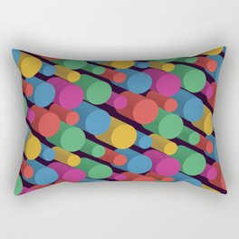 3D X Pipes II Rectangular Pillow