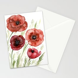 Perfect Poppies Stationery Cards
