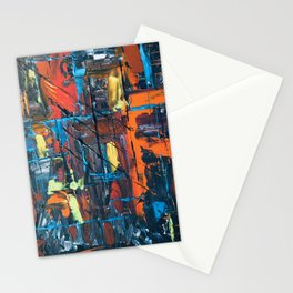 Abstract #3 Cool Tones Stationery Cards