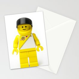 Yellow astronaut Minifig with his visor up Stationery Cards