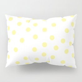 Simply Dots in Pastel Yellow Pillow Sham