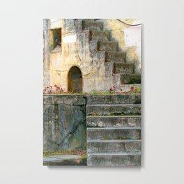 Fort Steps Geometric Metal Print