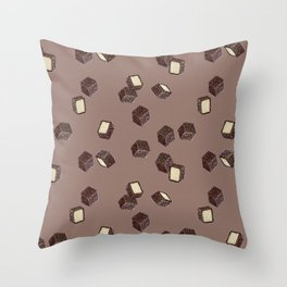 Lamingtons on chocolate Throw Pillow