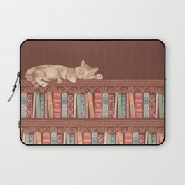 Cat in the library Laptop Sleeve