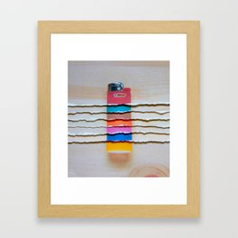 Torn Lighters Framed Art Print