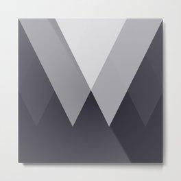Sawtooth Inverted Blue Grey Metal Print