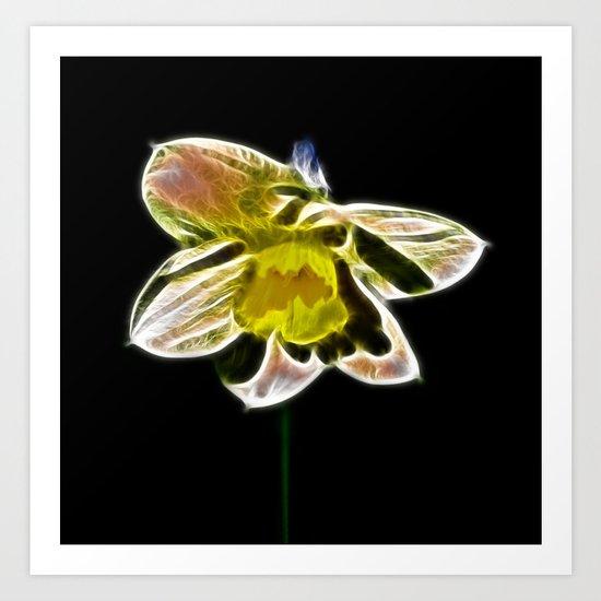 Fractal Daffodil  Art Print