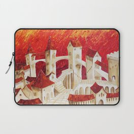 Surrealism old castle in Italy by Ksavera Laptop Sleeve