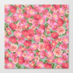 Flora Collage I Canvas Print