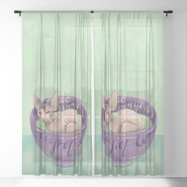 Not Everyone's Cup Of Tea - Sphynx Cat - Part 4 Sheer Curtain